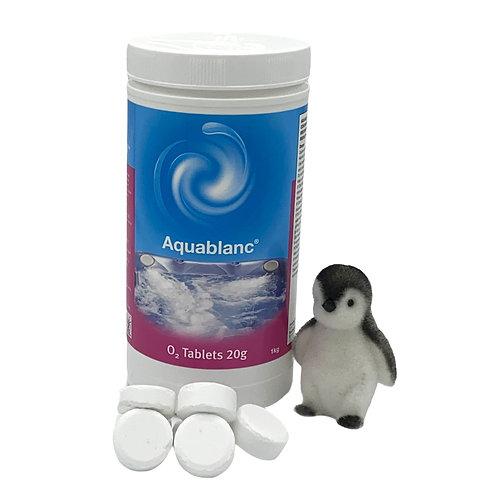 Aquablanc - 1kg O2 Tablets 20g - Non-Chlorine Active Oxygen System Treatment