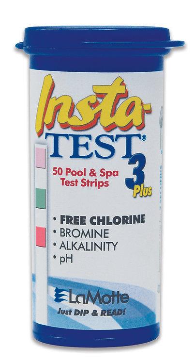 LaMotte Insta-TEST 3 Plus. 50 Pool & Spa Test Strips