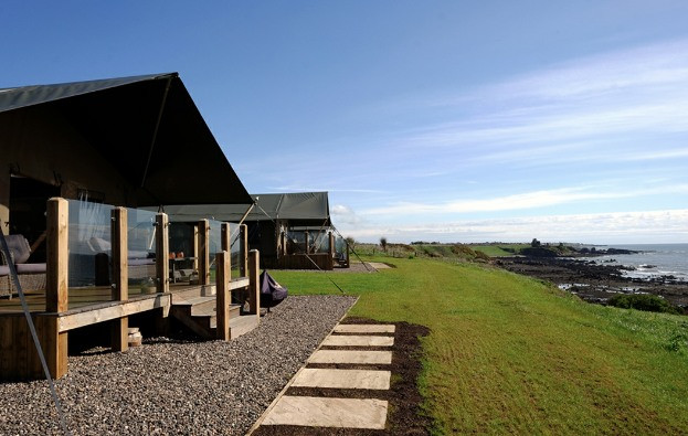 Catchpenny Safari Lodges are a new and completely unique way to experience the East Neuk. Situated just meters from the shoreline, on the Fife Coastal Path between the pretty fishing village of Elie and St Monans. The lodges themselves offer a home-from-home glamping experience with real beds, log burning stove and a hot shower all under canvas. With Elie on their doorstep, the lodges are a perfect base to enjoy all that the East Neuk has to offer.