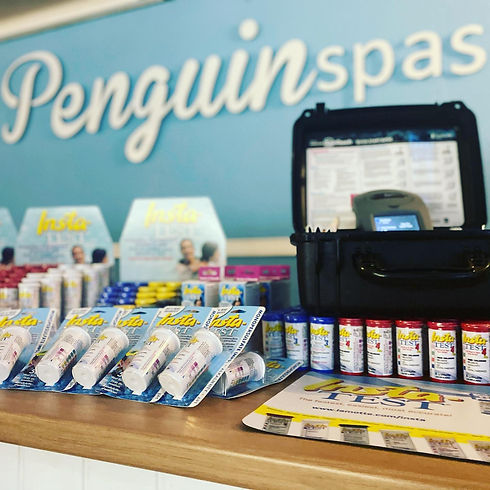 Insta Test Strips background Penguin Hot Tubs.jpg