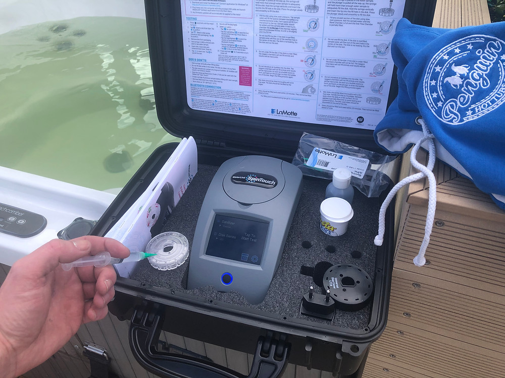 At Penguin Spas, we provide the most advanced mobile water chemistry analysis service in Scotland for Holiday cottages, holiday homes and holiday parks