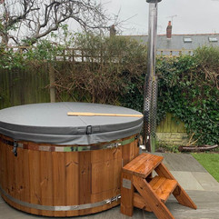 Wood burning hot tub by Penguin Spas Outdoor Living Scotland with LED lights 2.JPG