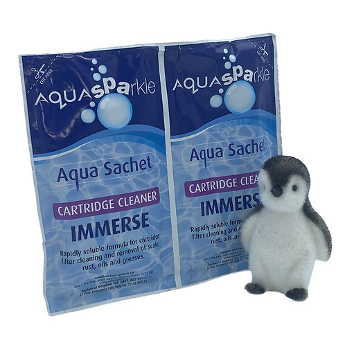 AquaSPArkle Immerse Spa Filter Cartridge Cleaner 2 x 50g