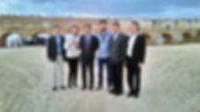 ליווי של משלחת לציוד ומכשור רפואי באמת המים בקיסריה