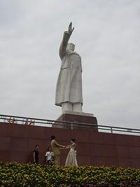 פסל של יושב הראש מאו, העיר צ'נגדו, סין