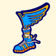 Blues Sneaker Sticker (Vinyl Sticker)