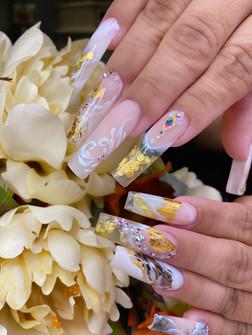 Square Long Custom Nails