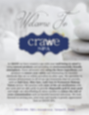 Crave Spa Menu Page 1- Front Cover pdf.p