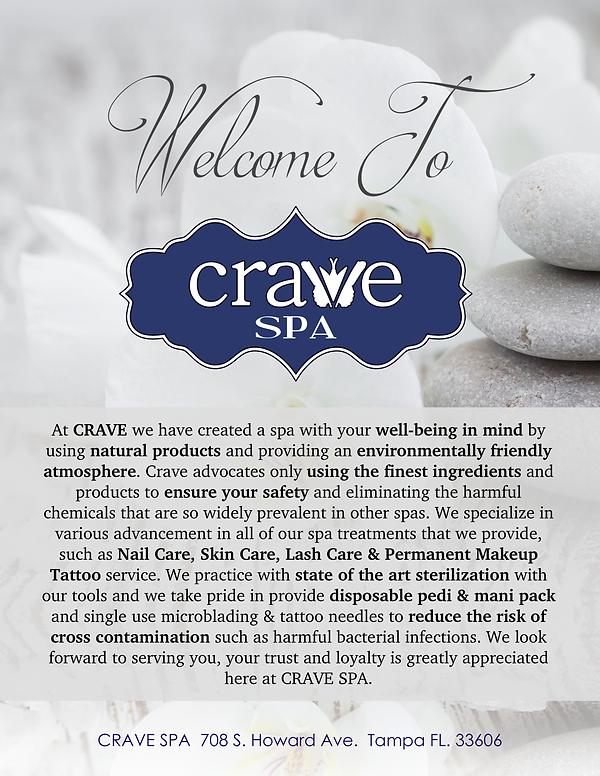 Crave Spa Menu Page 1- Front Cover pdf.p