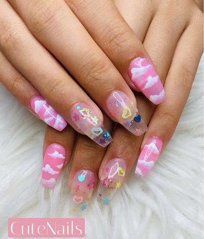 Short Nails w/Designs