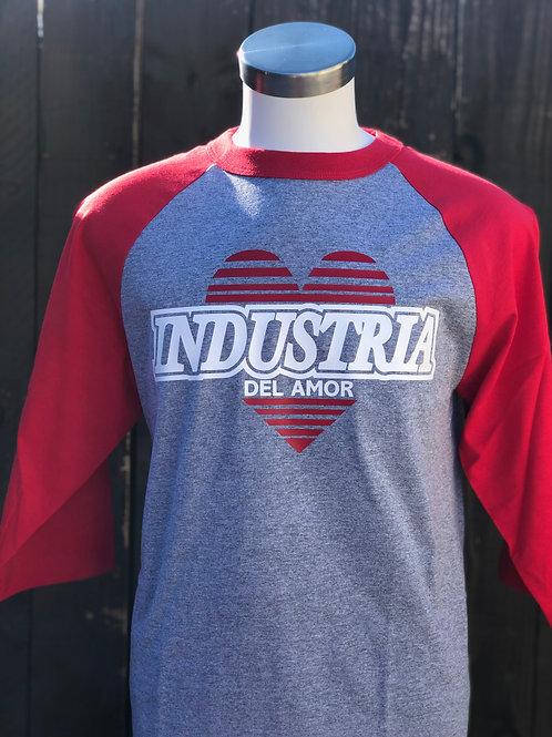 Camisa Gris con Mangas rojas