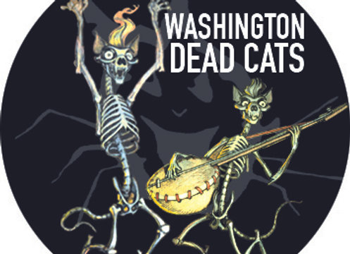 BADGE WDC Dead cats skeletons 32 mm