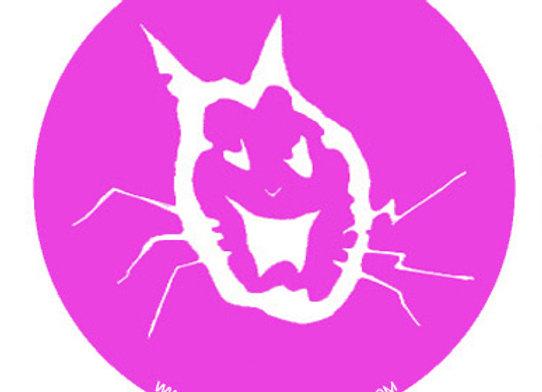 BADGE cat logo pink
