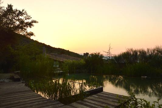 La piscine au crépuscule