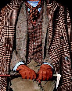 Tweed férfi szett