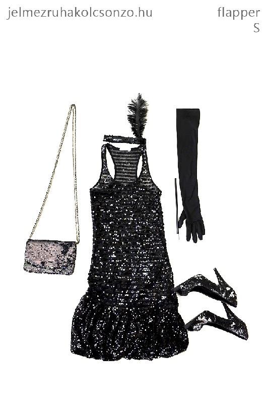 Fekete flapper szett (GN011)
