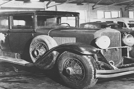 A világ egyik legbefolyásosabb vezetője Al Capone autójában