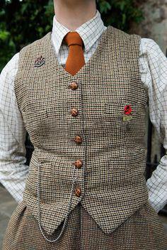 Tweed férfi mellény