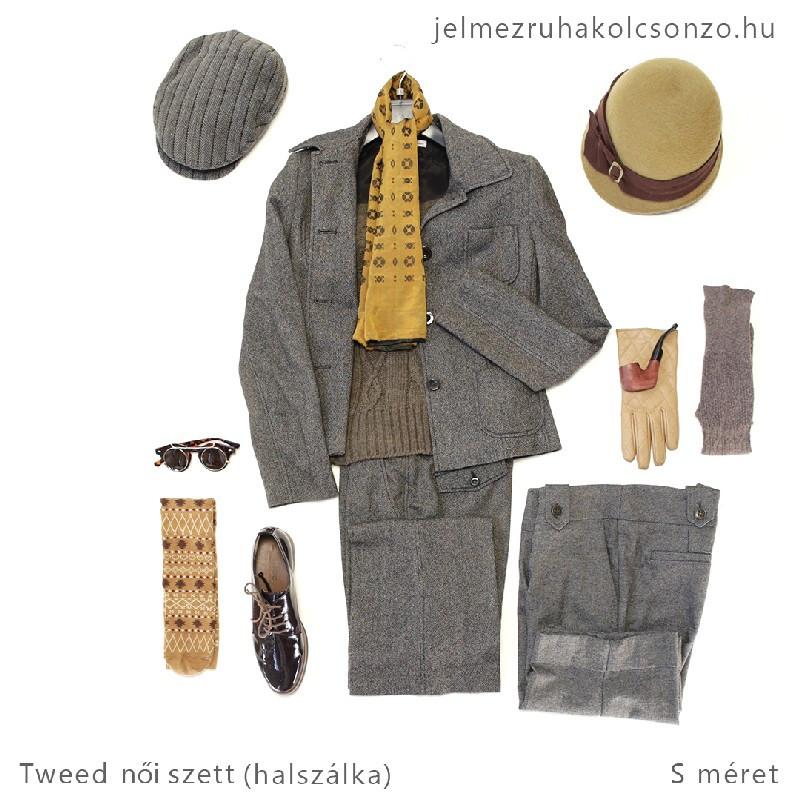 Árpaszem mintás tweed kosztüm