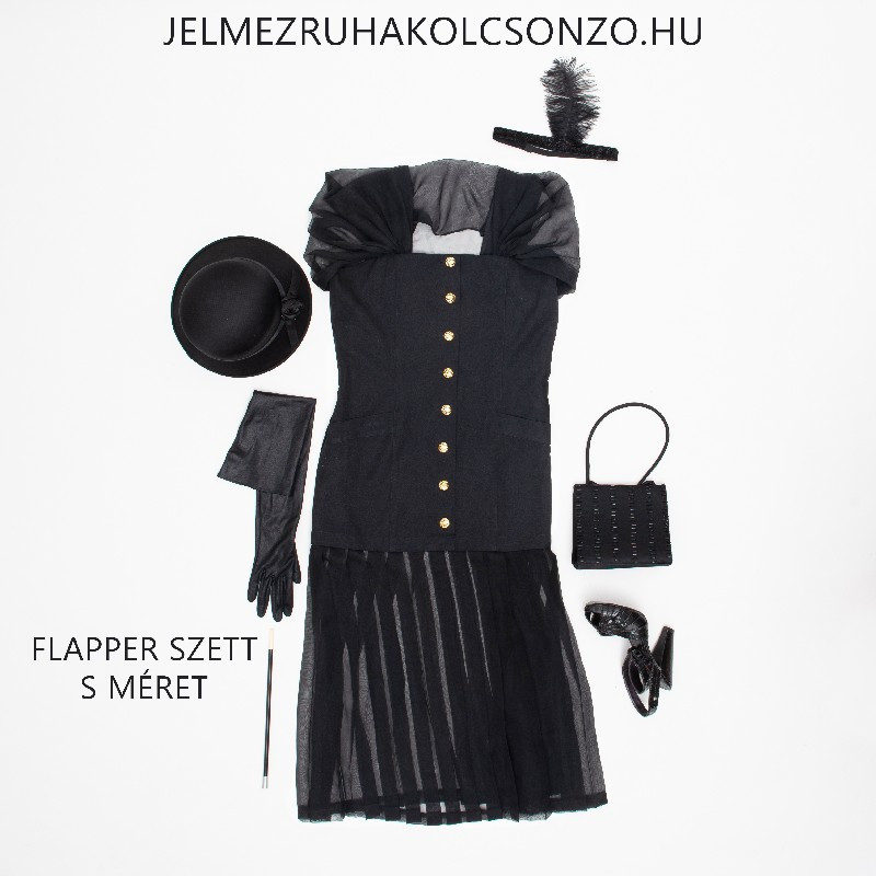 Fekete gatsby ruha (GN016)