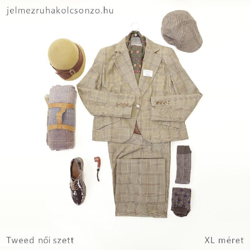 Kockás kosztüm