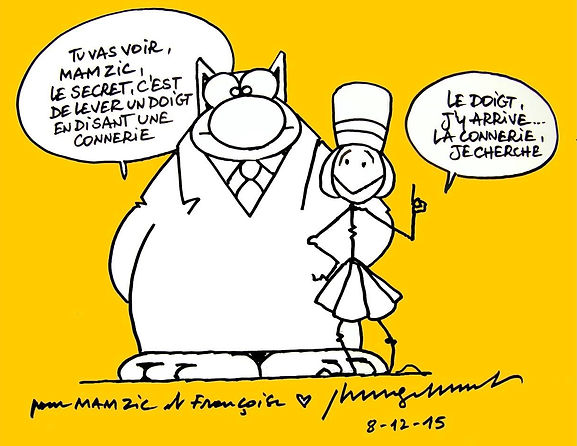 mam zic dessin le chat geluck
