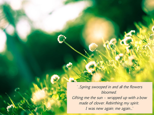 Spring - Shining Light on Growth; Cleansing