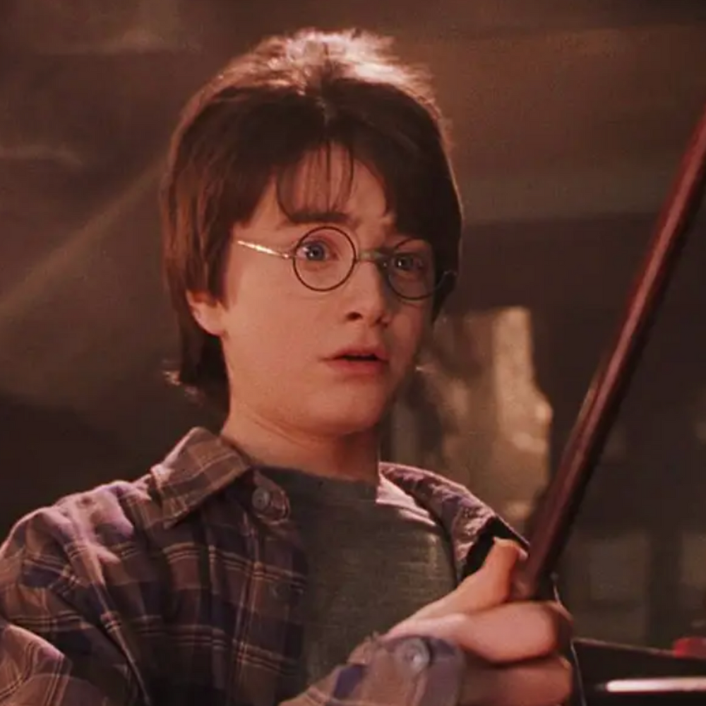 An image of Harry Potter from the first film, Harry Potter & The Sorcerer's Stone