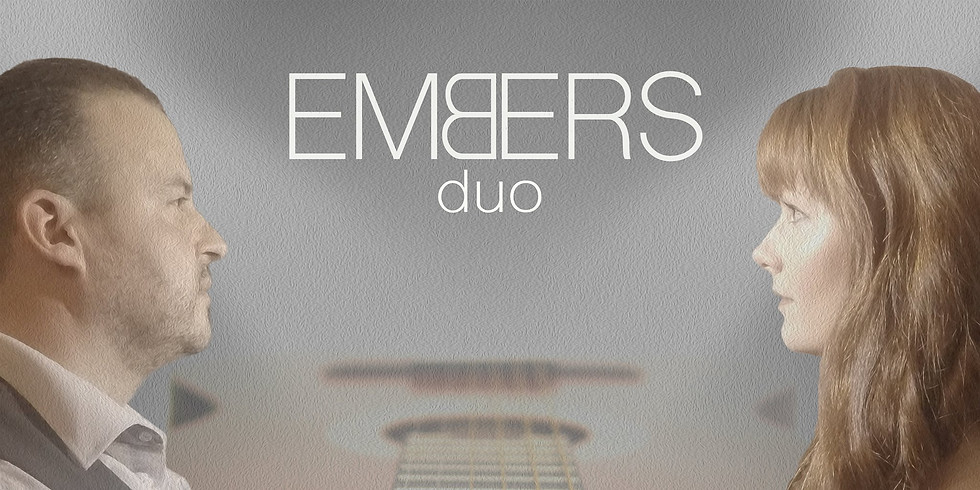 Embers duo playing on Valentines evening