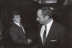 Allyn Crawford with Governor Mario Cuomo