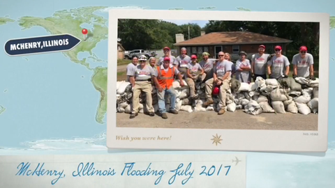 Team Rubicon and Dogwood Charitable Foundation Team Up (Flooding McHenry, Illinois July 2017)