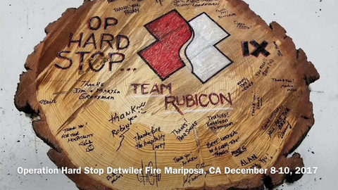 Operation Hard Stop Detwiler Fire Mariposa, CA December 8-10, 2017