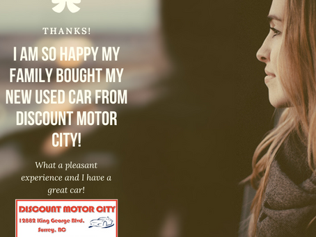 Why Buy Your Used Car at Discount Motor City, Used Car Sales, Surrey, BC