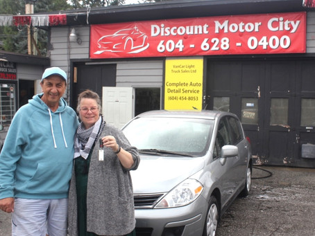 Another Happy Customer at Discount Motor City, Used Cars Surrey