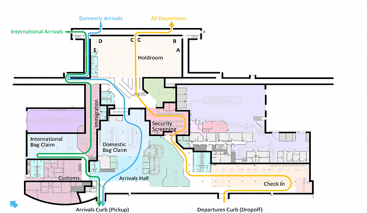 Detailed map of London International Airport Terminal Building