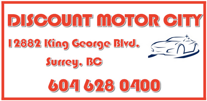 Discount Motor City logo and address