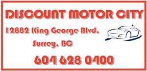Discount Motor City logo and address