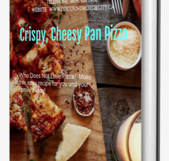 CRISPY, CHEESY PAN PIZZA | DISCOUNT MOTOR CITY