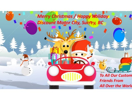 Happy Holiday in the Many Languages of Our Customers; Discount Motor City, Used Car Sales, Surrey