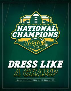 NDSU - Dress Like A Champ Signage