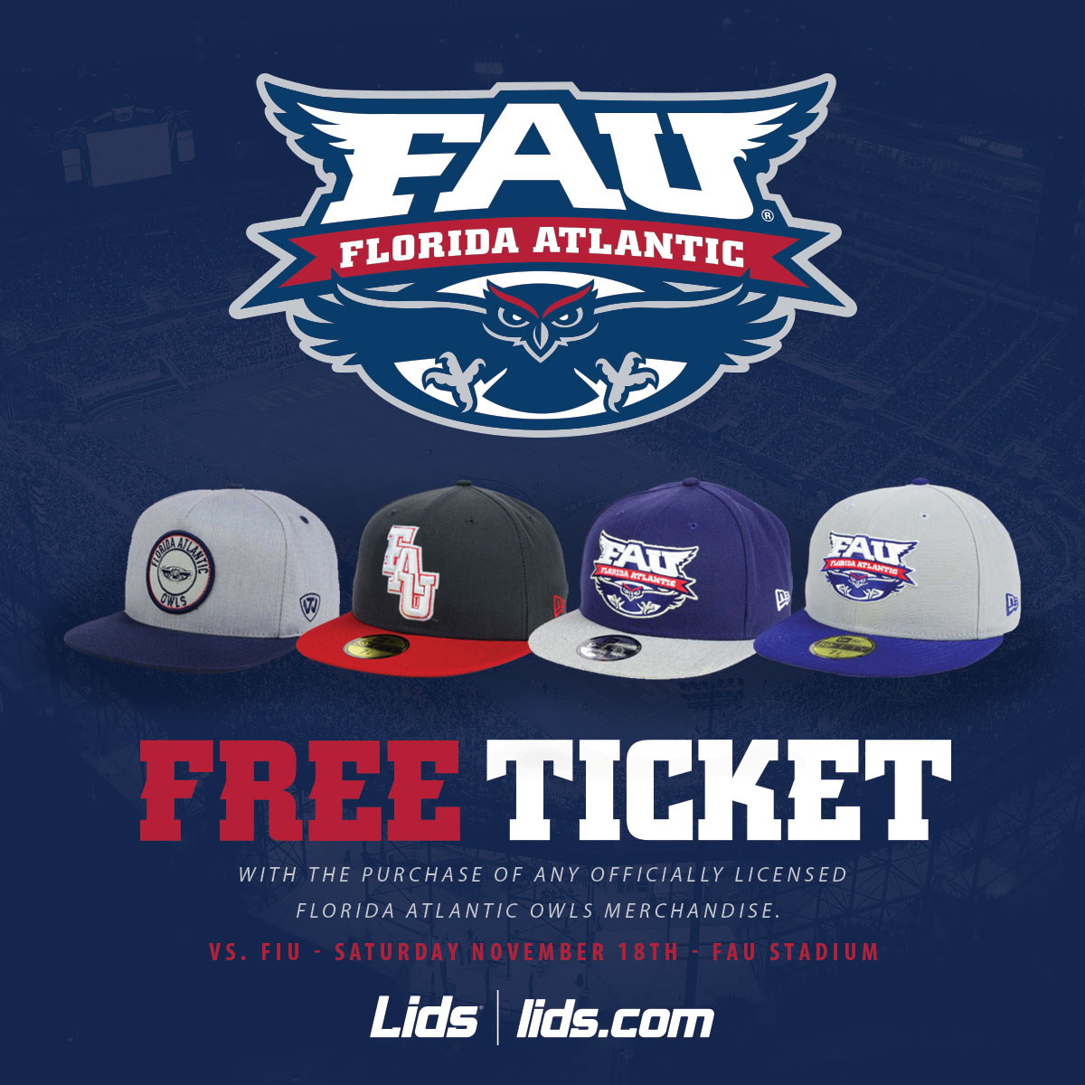 FAU x Lids - Social Media Promotion