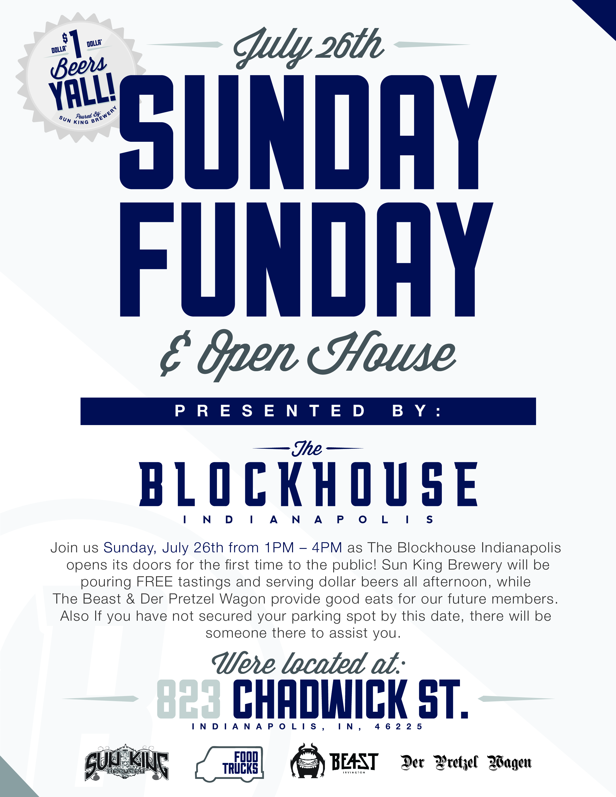 THE BLOCKHOUSE INDY - SUNDAY FUNDAY