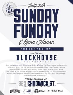 THE BLOCKHOUSE INDY - SUNDAY FUNDAY