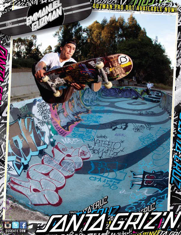 SANTA CRUZ SKATEBOARDS - EMAN GRIZ'N