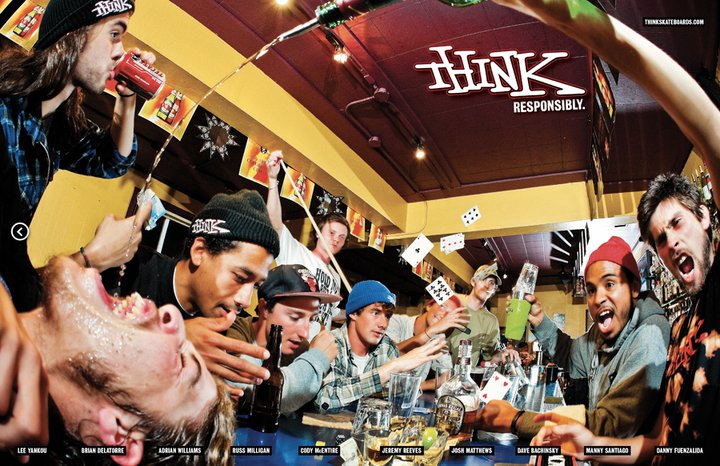THINK SKATEBOARDS - RESPONSIBLE