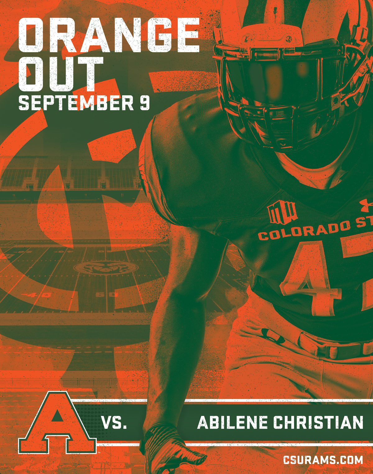 Colorado State - Orange Out Poster