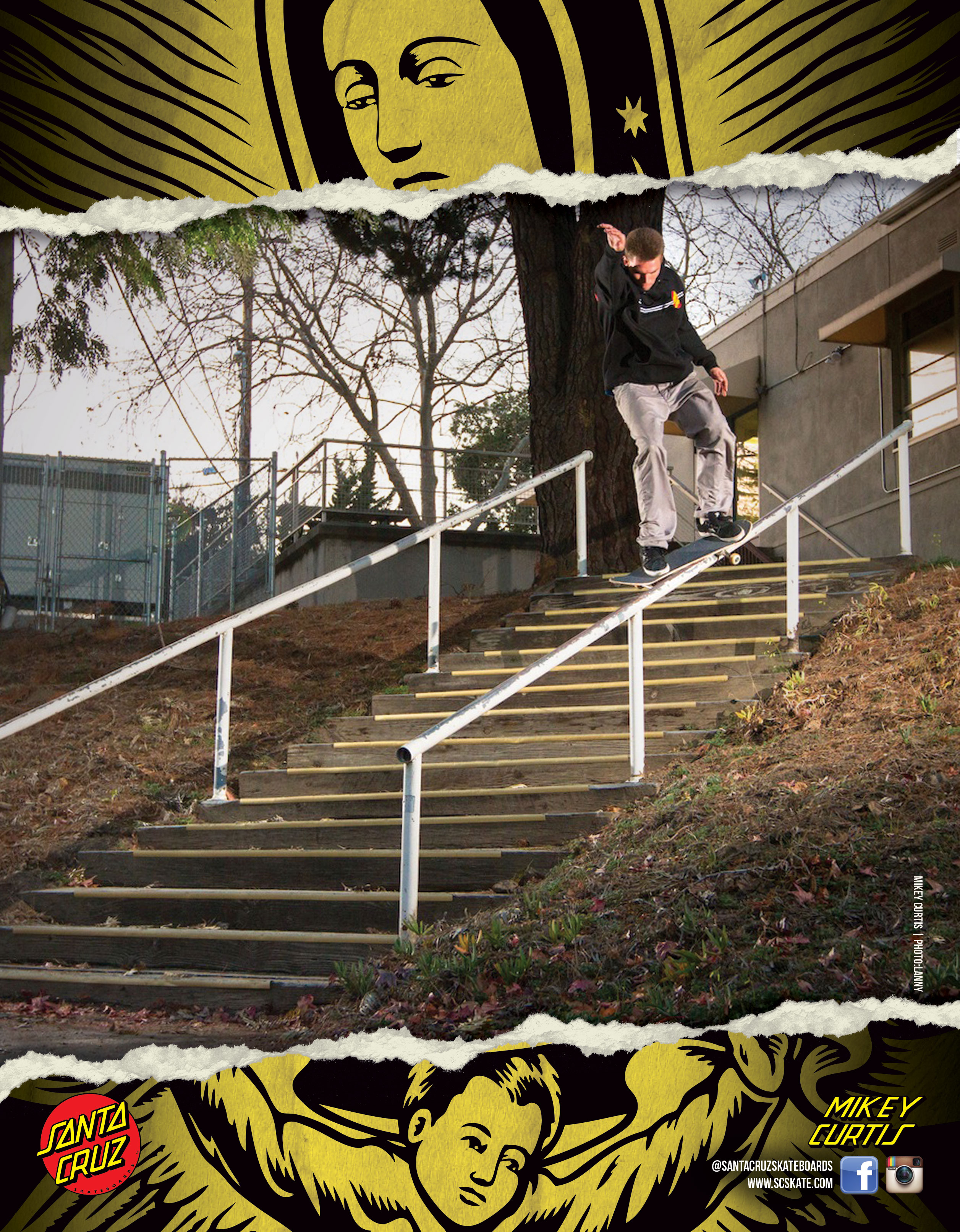 SANTA CRUZ SKATEBOARDS - CURTIS