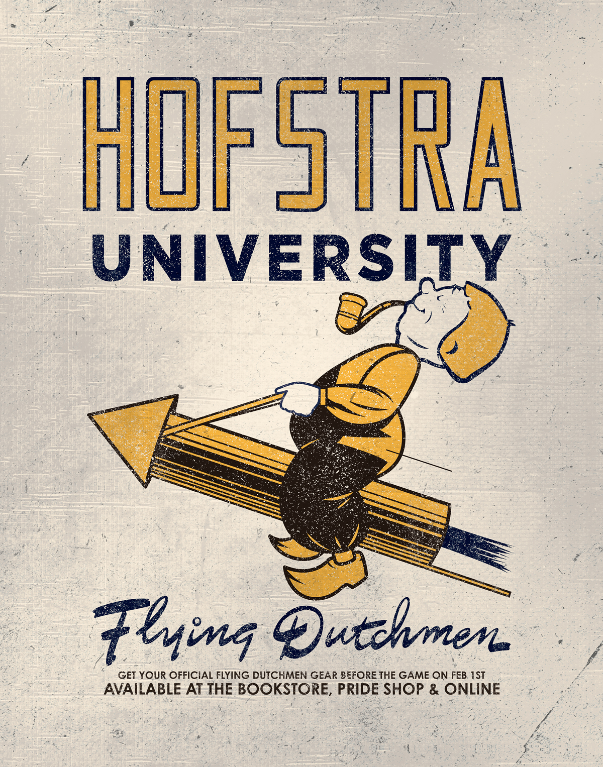 Hofstra - Flying Dutchmen Signage