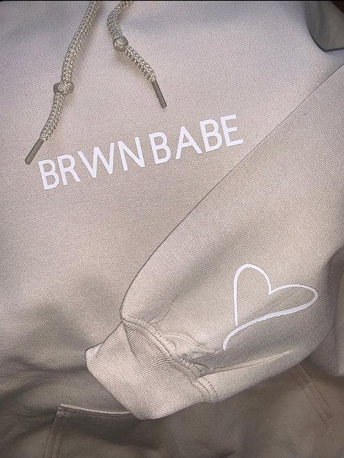brwn babe hoodie