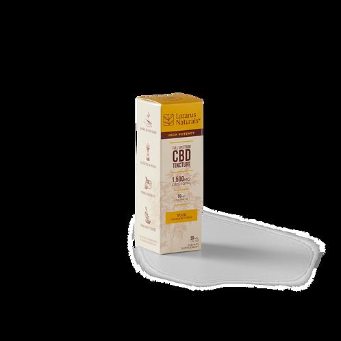 Small Yuzu Flavored Full Spectrum CBD Tincture 1,500mg